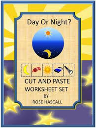 day and night math u0026 literacy cut paste special education early