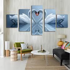 white swan inverted image modern canvas prints buy modern canvas