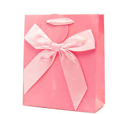pink gift bags pink gloss gift bag with bow medium 1 40 polyvore