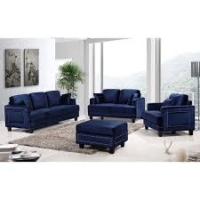 free living room set free living room set living room set ferrara navy velvet nailhead living room set free shipping today