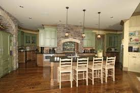 craftsman style home interiors kitchen with nook island in contemporary craftsman house