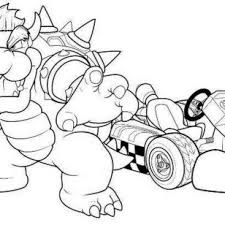 free printable mario kart coloring pages cartoon free princess