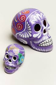 small purple sugar skull earthbound trading co earthbound