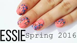 the essies spring floral nail art the essie spring 2016