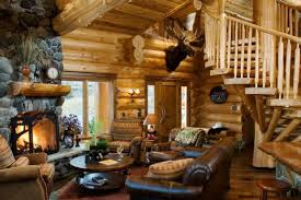 Rustic Log Cabin Interior Design Ideas Style Motivation - Log home interior designs