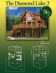 cedar direct log homes the diamond lake 2 1 524 square feet log