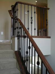 Stair Banister Rails Interior Fancy Decorating Ideas Using White Wall And Rectangular