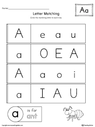 uppercase and lowercase letter a printable writing mat