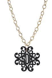 Monogram Neclace Acrylic Filigree Cross Monogram Necklace