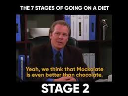 On A Diet Meme - the seven stages of going on a diet friends youtube