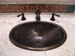 large oval copper bath sink dragonfly design artisan crafted home