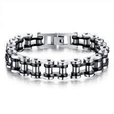 bracelet chain link styles images Men or women 39 s ss bike chain bracelet 4 styles to choose from jpg