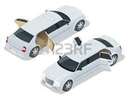 porte aperte auto limousine nera auto vip icona isometrico illustrazione limousine