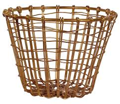 shaped fruit basket u2013 cast in iron u2013 golden color finish u2013 kitchen