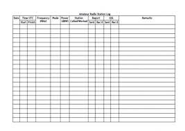 templates for log books ham radio log book template daway dabrowa co