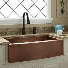 Kiana Curved Apron Copper Farmhouse Sink Kitchen - Kitchen sinks apron front