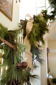 How To Decorate Garland With Ribbon Top 40 Staircase Garland Designs For Christmas Christmas