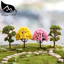 shop 5pcs moss micro landscape ornaments decorated tree