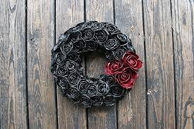 halloween wreath amazon com halloween wreath black and red halloween rose wreath