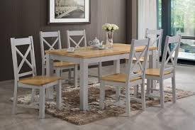 Rochester Dining Room Furniture Rochester Dining Set Grey Colour Dining Table With 6 Dining