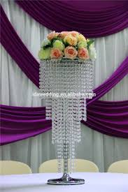 Chandelier Centerpieces Blue Murano Glass Vases Water Beads Centerpieces For Wedding