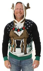 ugly christmas sweaters that light up and sing ugly christmas sweater men s reindeer hooded light up pullover