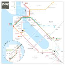 Vta Light Rail Map San Francisco Bay Area Transit Map Inat Maps