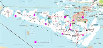 Map Of Ontario Map Of Hiking Trails Manitoulin Island Northern Ontario Canada