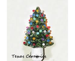 ceramic christmas tree green ceramic christmas tree light with automatic li