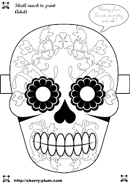 dia de los muertos coloring pages dia de los muertos u2013 masque