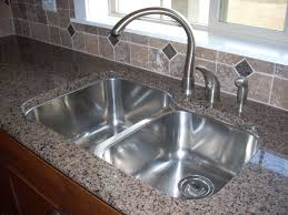 Brushed Nickel Faucet Kitchen by Bathroom Grey Lowes Counter Tops With Sink And Silver Faucet For