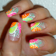 glow in the dark abstract nail art design youtube