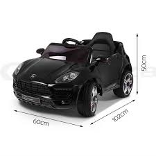 electric porsche kid ride on car battery porsche macan style electric toy remote