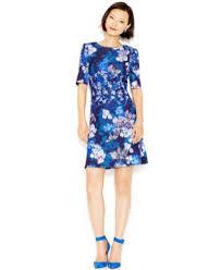 betsey johnson short sleeve floral scuba dress dresses women