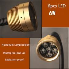 explosion proof led work light 6w soft rod waterproof oil proof and dust proof led aluminum alloy