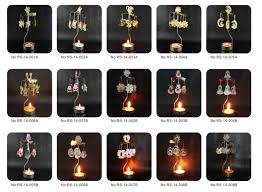 christmas tea light candle holders 2015 newest rotating metallic lantern wholesale exported diy metal