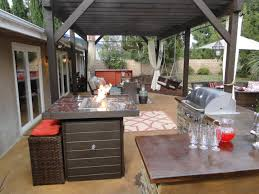 Patio Umbrellas B Q by Small Outdoor Kitchen Ideas Pictures U0026 Tips From Hgtv Hgtv
