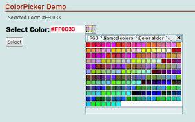 Asp Net Color Picker Web Server Control Codeproject Web Page Color Picker