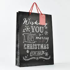 large christmas gift bags festive chalkboard large gift bag only 1 49