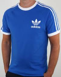 Blue Flag With Yellow Stripe Classic And Retro T Shirts From Adidas Fila Ellesse Pretty