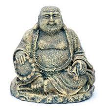 penn plax rr564 mini sitting buddha ornament deco replica