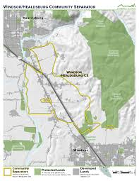 Sonoma California Map Maps Of All Eight Sonoma County Community Separators Greenbelt
