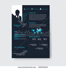 picture resume template vector creative minimalist cv resume template stock vector 580561654
