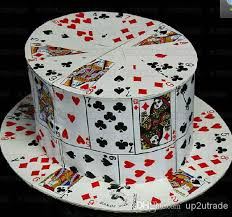 magic props card fan to card top hat stage magic card fedora cap