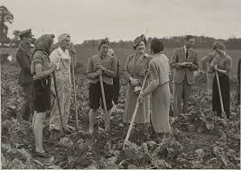 king george vi file king george vi and queen visit volunteers at agricultural