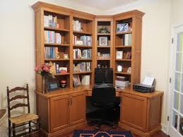 Home Office Bookshelf Ideas Home Organization L Shaped Black Polished Wood Bookshelves Tall