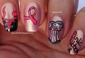 365 days of nail art breast cancer awareness nail art