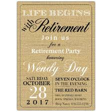 retirement party invitations begins retirement party invitations paperstyle