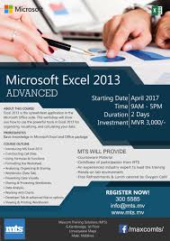 Excel Spreadsheet Course Maxcom Training Solutions