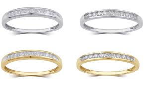 the goods wedding band up to 76 on 1 4 cttw diamond band in gold groupon goods